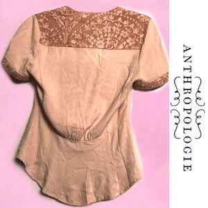 Anthropologie Tops - TINY by ANTHROPOLOGIE Dusty Rose Button Top Small